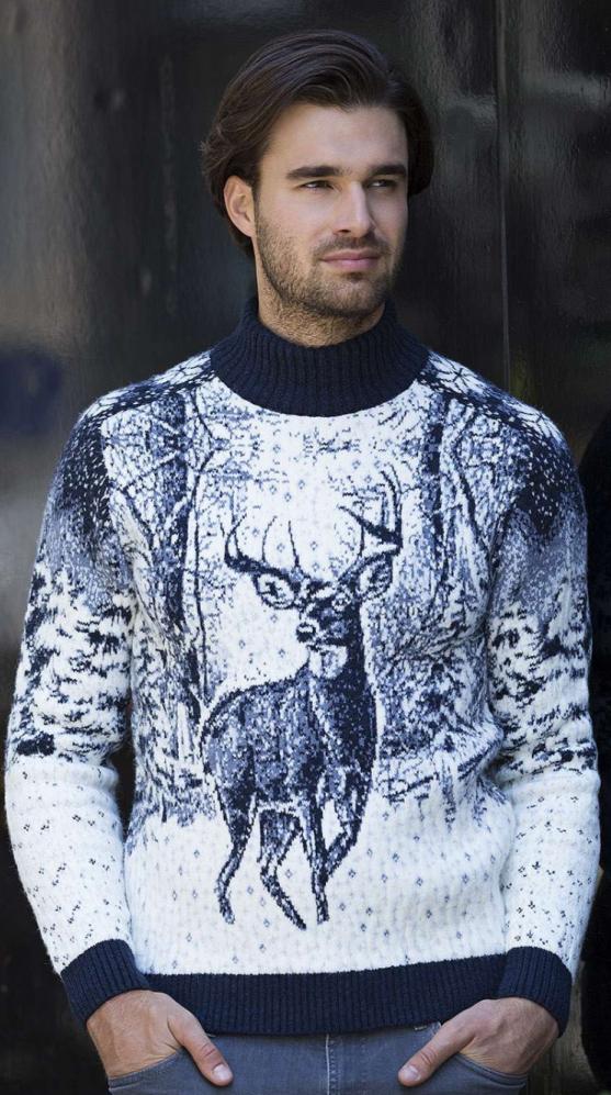 3859b07ca0dbe Купить мужской свитер с оленем Pulltonic. Фото свитера, размеры ...